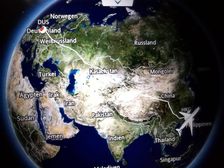 Der Flug ging komplett über Land und soweit östlich waren wir noch nie